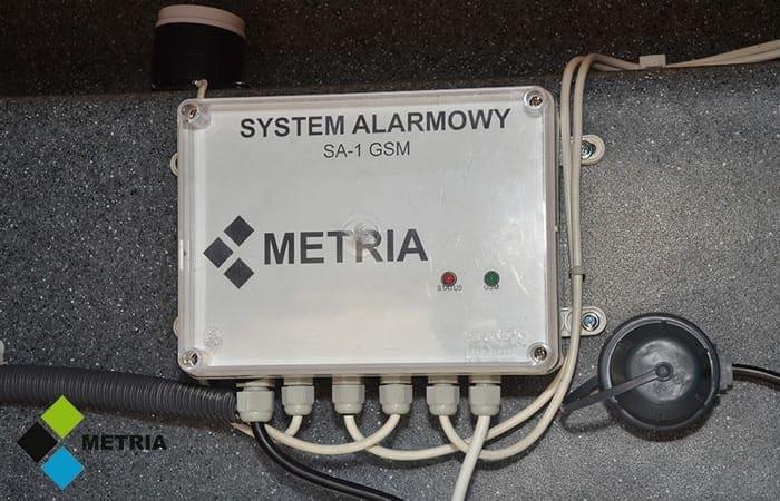 system alarmowy zbiornik paliwa