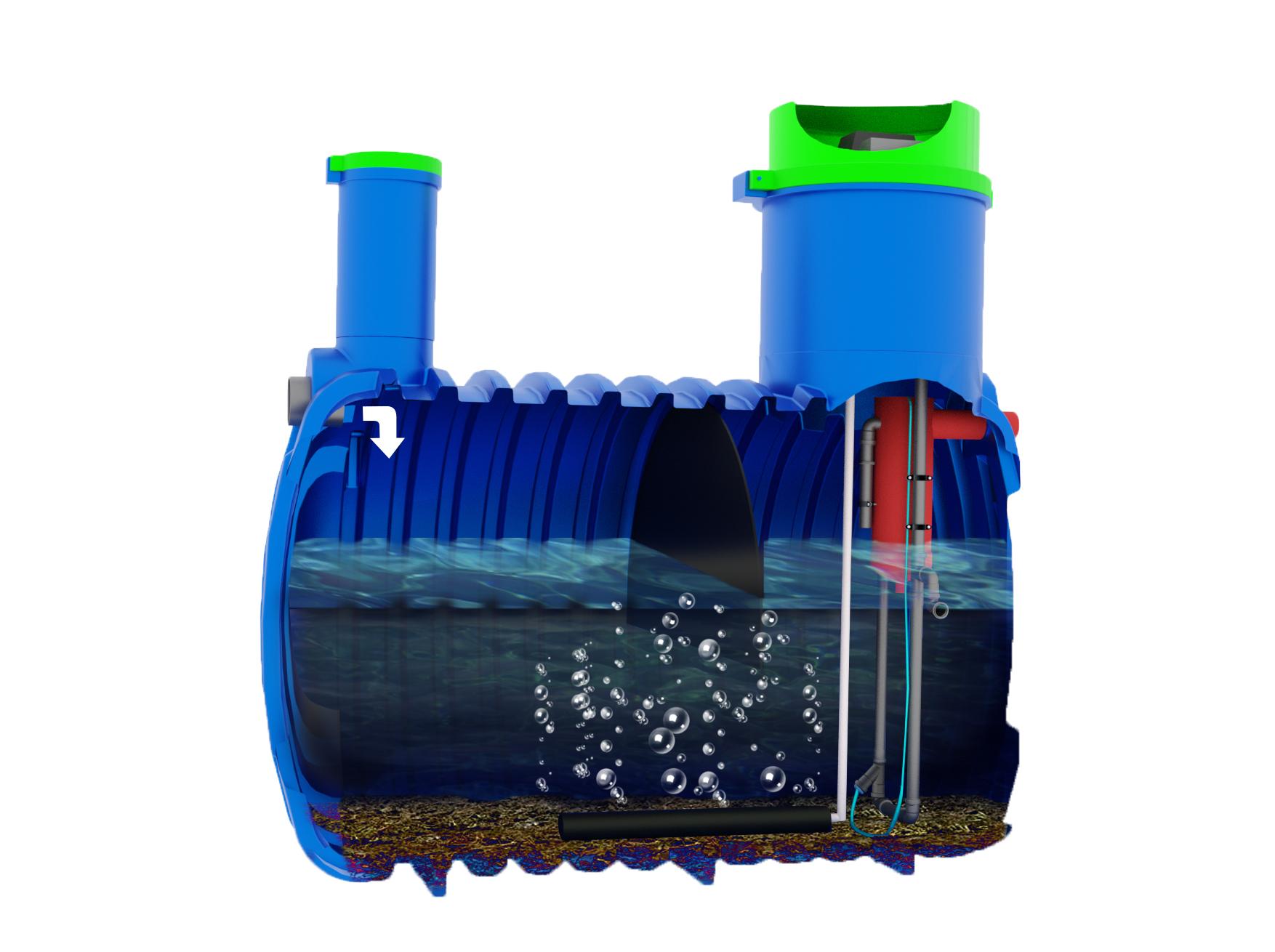 Oczyszczalnia biologiczna Soft SBR Metria - Faza 1 oczyszczania